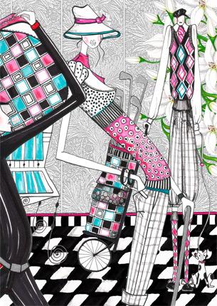 Fashion illustration portfolio sets